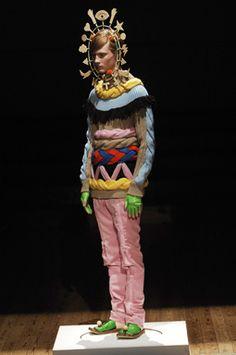 Jumper, leggings, hat and gloves no.19 a/w 2008-2009, Walter Van Beirendonck, The Endless Garment