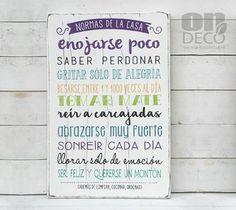 Cartel | Normas de la casa... - comprar online