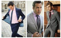 Complete Guide to Men's Shirt, Tie and Suit Combinations Pink Shirt Grey SuitPink Shirt Grey Suit Black Suit Red Tie, Blue Pinstripe Suit, Grey Suit Men, Navy Blue Suit Combinations, Shirt And Tie Combinations, Color Combinations, Mens Shirt And Tie, Suit And Tie, Blazer Outfits Men