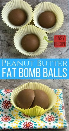 Looking for an Easy Keto Fat Bombs recipe? You'll love these crazy EASY Chocolate Peanut Butter Fat Bombs for Keto Diet.