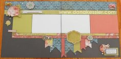 Ariana Two Page Scrapbook Layout CTMH Cricut Artbooking #ctmh #scraptabulousdesigns #cricut