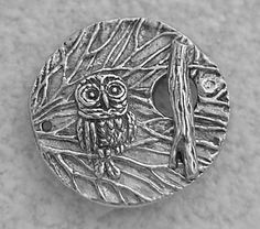 Green Girl Studios Pewter Owl Branch Toggle Clasp by BeadLady, $10.00