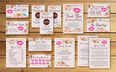 Lipsense Business Card - LipSense Bundle Pack - SeneGence International - LipSense Marketing KIT - Distributor Lipsense Rose Pack -You Print