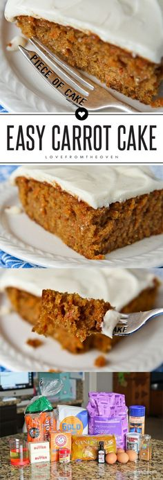 This easy and delicious carrot cake with cream cheese frosting is great for spring and a fabulous option for an Easter dessert!