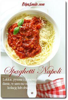 Spaghetti Napoli. Dzisiaj zapraszam z wielką przyjemnością na spaghetti Napoli. Znane na całym świecie spaghetti Napoli ma wiele kombinacji i modyfikacji, które Spaghetti, Chana Masala, Noodles, Chili, Salads, Food And Drink, Soup, Cooking, Ethnic Recipes
