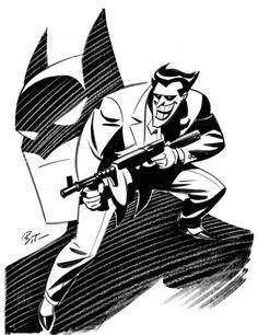 "batmananimated: ""The Joker and Batman by Bruce Timm """