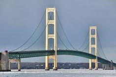 The Mackinac Bridge.