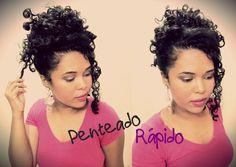 Penteado rápido para cabelos cacheados