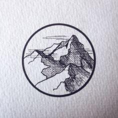 Montagne - encre de Chine Côme Devinant