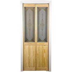 "AWC Burgundy Decorative Glass 36"" x 80.5"" Bifold Door"