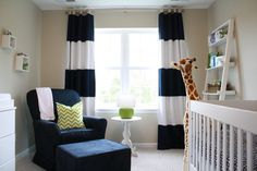 this little guys room is my style- navy and green nursery