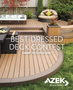 Deck Builders, Composite Decking, Outdoor Furniture Sets, Outdoor Decor, Decks, Nice Dresses, Outdoor Living, Backyard, The Incredibles