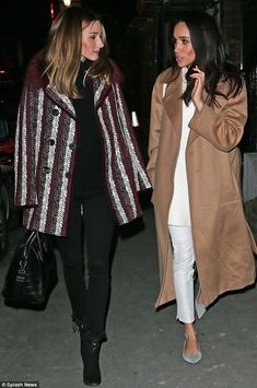 Olivia Palermo with Meghan Markle out in London