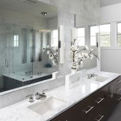 Carera Marble Bathroom Design, Pictures, Remodel, Decor and Ideas