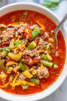 Hamburger Soup - - Simmered to perfection and designed to satisfy, this hearty beef soup is loaded with good-for-you ingredients! - by dinner hamburger Hamburger Beef Soup {Low Carb / Keto} Keto Foods, Ketogenic Recipes, Low Carb Recipes, Diet Recipes, Cooking Recipes, Healthy Recipes, Radish Recipes, Dessert Recipes, Healthy Cake