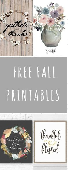 Check out these fun free fall printables! Deck out your house with these just in time for thanksgiving! You could also use these with transfer paper!