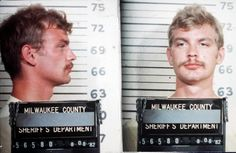 The above mug shot of serial killer Jeffrey Dahmer was taken in August 1982 after he was arrested by Milwaukee cops for exposing himself at a Wisconsin state fair. Dahmer was arrested again in July 1991 and charged with the murder of 17 men and boys over the course of 13 years. In 1992 he was found guilty of 15 counts of murder and sentenced to 15 life terms. In November 1994 the 34-year-old Dahmer was beaten to death by another inmate.