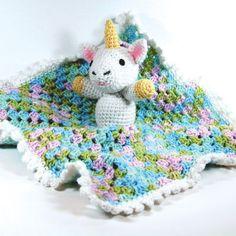 Couverture avec décoration en forme de bébé licorne Bernat Softee