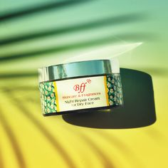 Wake up with soft, nourished & fresh skin using the Night Repair Cream, made from Natural Ingredients. #bffskincare #naturalskincare #nightrepaircream #aloevera #ginger