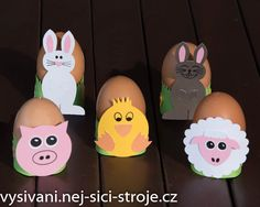 Stojánky na vajíčka - velikonoční tvoření s dětmi, velikonoční dekorace