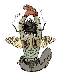 Did you know that earwigs have cute little birdy angel wings? I thought they had roundish wings but look at this theyre like cherub bugs. Dark Art Drawings, Cute Drawings, Character Creation, Character Art, Art Of Love, True Art, Cute Characters, Character Design Inspiration, Art Sketchbook