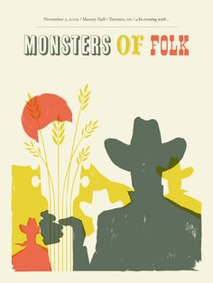 GigPosters.com - Monsters Of Folk by Doublenaut