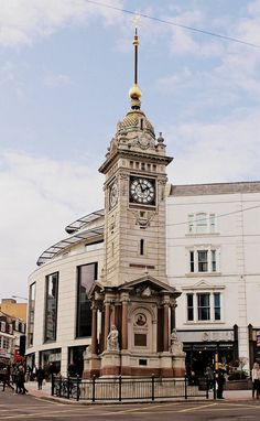Jubilee Clock Tower on Queen's Rd and North St, Brighton.