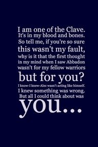 The Mortal Instruments: City of Bones | Book Series by Cassandra Clare | #quotes | Jace