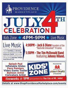 SoundOff: July 4: Diane Michel Untz, Nashville Unleashed at July 4th Celebration, Providence Marketplace, Mt Juliet TN at 4 pm July 4