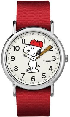 Timex Weekender Peanuts: Snoopy Watch, Nylon Slip-Thru Strap