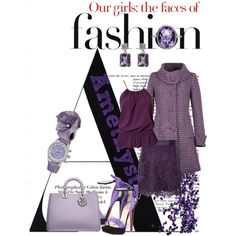 Shades of amethyst by nenaure on Polyvore featuring мода, Vero Moda, A|Wear, Christian Louboutin and amethyst contest