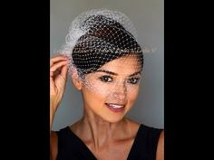 552eefbe8f4a9 How to Wear a Birdcage Veil  YouTube.  birdcage  veil  tutorial ...