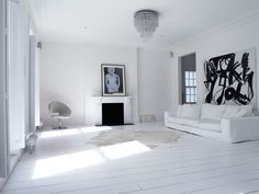 White, Home, Interior, Industrial, Minimal Inspiration, Fireplace, Oracle Fox