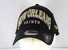 dbfd066918587 New Orleans Saints Black NFL Baseball Cap Stretch Fit M L