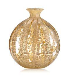 Seguso Viro - Deco Bud Vase Crystal/Silver