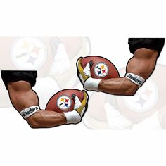 Officially Licensed NFL ARMagnets Left- and Right-Arm Vehicle Magnets - Steelers