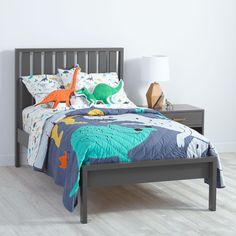 Cargo Low Footboard Bed (Charcoal)  | The Land of Nod