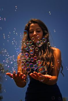 Bubble by Esin Topuz / Creative Portrait Photography, Photography Poses Women, Tumblr Photography, Girl Photography Poses, Inspiring Photography, Stunning Photography, Photography Tutorials, Beauty Photography, Digital Photography