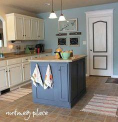 board batten kitchen island, home decor, kitchen design, kitchen island, Board Batten kitchen island