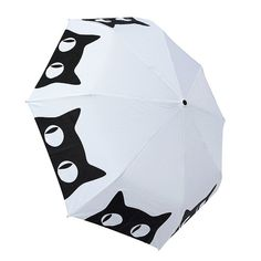 Special Edition: Big Eyes Cat Umbrella by nakeddecor on Etsy