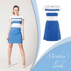 Nigdy nie wiadomo, co przyniesie nowy tydzień. Dlatego proponujemy, aby w poniedziałek ubrać coś, co będzie jednocześnie eleganckie i uniwersalne. Idealny wybór to połączenie ponadczasowej bieli i kobaltu. W takim wydaniu będziecie gotowe na wszystko!  Suknia: http://bit.ly/SukniaAshley #semper #semperfashion #dress #blue #fashion #moda #stylish #polishgirl #womaninblue #sukienka #stylizacje #modowestylizacje #inspiracje #modoweinspiracje #inspirations #fashioninspirations #spring #wiosna