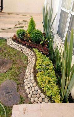 159 stunning front yard courtyard landscaping ideas - All For Garden Courtyard Landscaping, Landscaping With Rocks, Front Yard Landscaping, Backyard Landscaping, Landscaping Ideas, Backyard Ideas, Natural Landscaping, Porch Ideas, Vegetable Garden Design