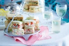 Prawn, fennel & tarragon sandwiches
