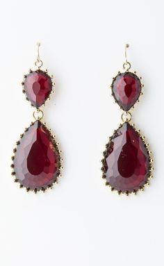 Add a little red to your holiday outfit with these Alma Drop Earrings from Lily Rain, $22
