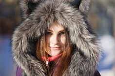 Russian girl with fur clothes, moscow, Russia by Alex_Saurel, via Flickr