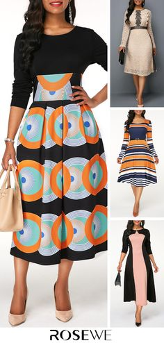 Long Sleeve High Waist Printed Dress Upgrade your wardrobe and try a new style in this years African Print Dresses, African Wear, African Fashion Dresses, African Dress, Fashion Outfits, African Attire, Fashion Ideas, Black Prom Dresses, Women's Dresses