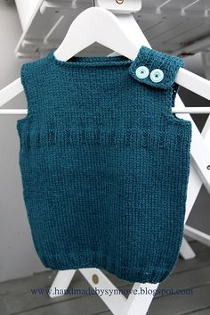 Ravelry: Magic Troll Vest pattern by Eba Design Kids Knitting Patterns, Knitting For Kids, Crochet Patterns, Baby Vest, Baby Cardigan, Vest Pattern, How To Purl Knit, Baby Sweaters, Knitwear