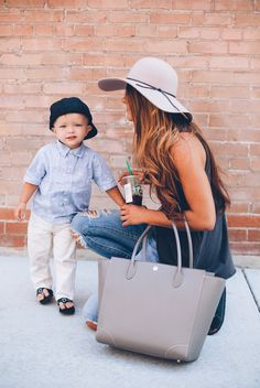 Brookside Tote in Taupe - Lorena Rosser Photography #littleunicorn