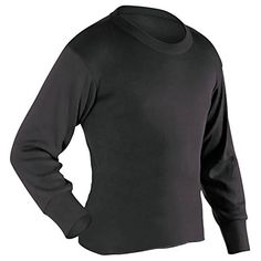 ColdPruf Youth Enthusiast Single Layer Long Sleeve Crew Neck Top Black Medium ** You can get additional details at the image link. (This is an affiliate link) #CampingHikingClothes