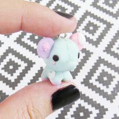 I haven't made anything new in such a long time, but here's a little elephant plushie I made for stardustchibis! #elephant #plush the #polymerclay #polymerclaycharms #polymerclaycreations #kawaii #chibi #nerdy #cute #handmade #crafty #etsy #premo #sculpey #fimo